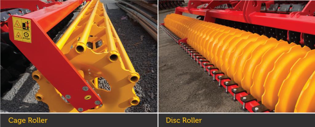 Aragon 5. 0m linkage folding disc tiller - roller options landscape -